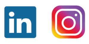 LinkedIn and Instagram Logo